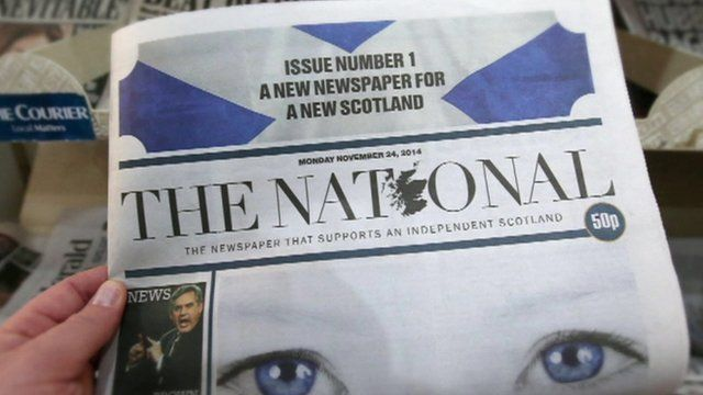 Front page of The National newspaper