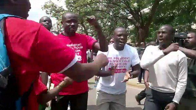 Protestors in Kenya's capital Nairobi call for better security