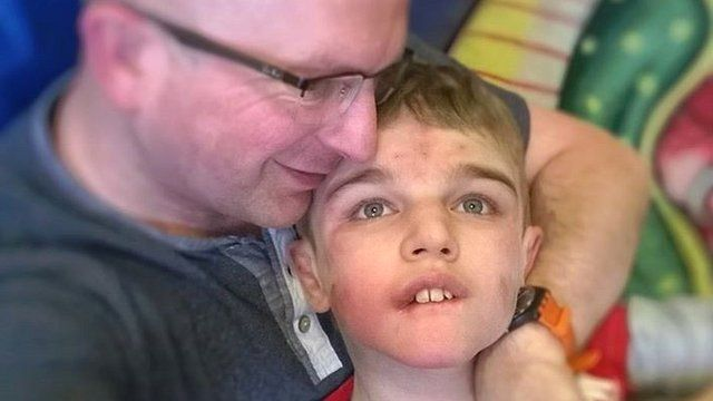 Phill Wills with son Josh