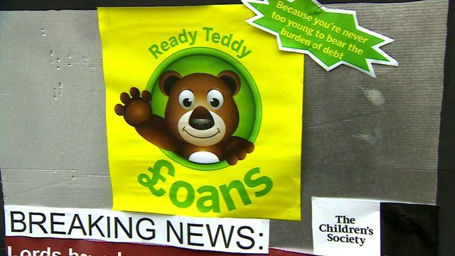 Campaign poster to ban payday loan adverts before the watershed