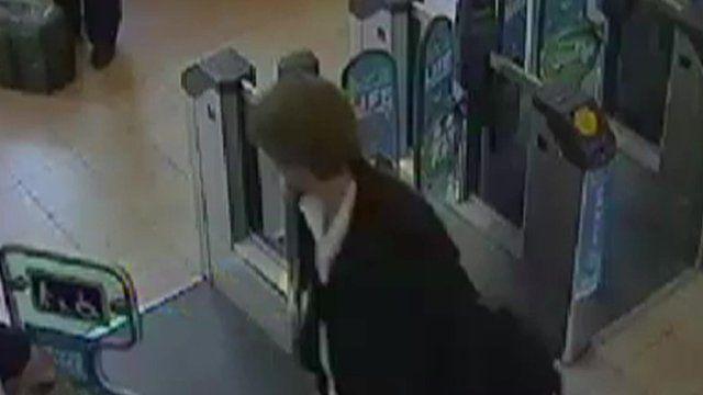CCTV footage of Nathan Robinson at a train station