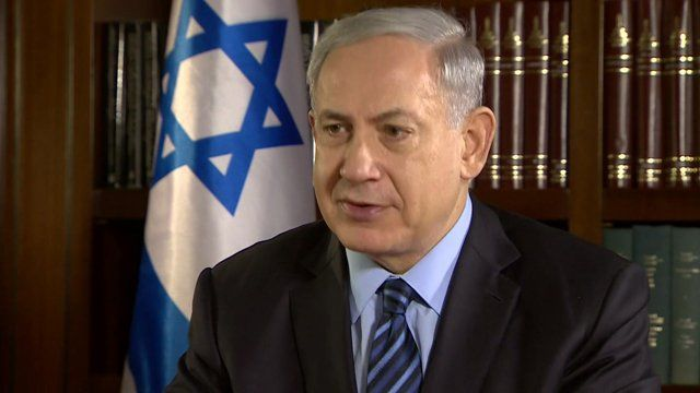 Prime Minister Benjamin Netanyahu speaks to Kevin Connolly