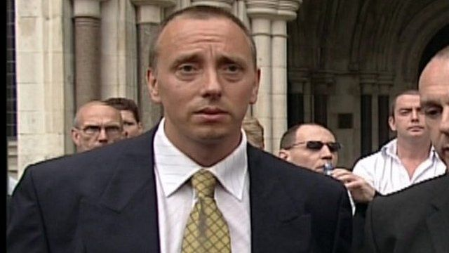 Tony Poole after his conviction was quashed in 2003