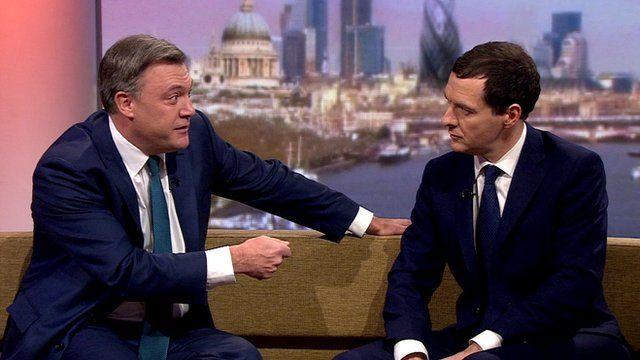 Ed Balls (left) and George Osborne