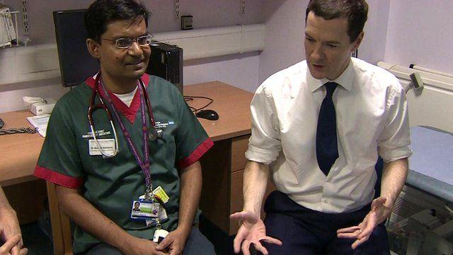 George Osborne meets medical staff