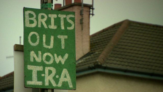 """Brits out"" sign in Northern Ireland"