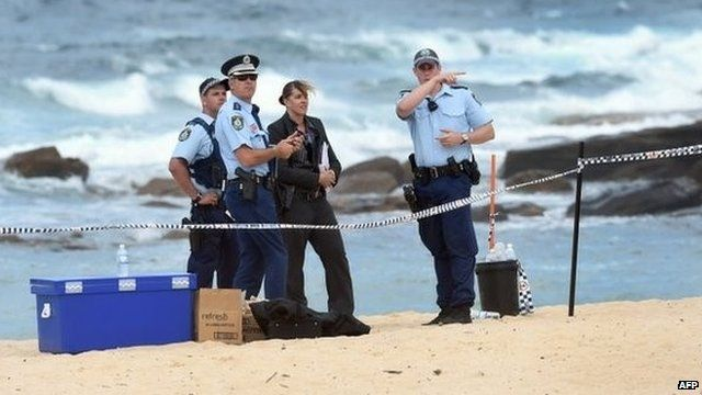 The scene where a baby was found buried on Sydney's Maroubra beach