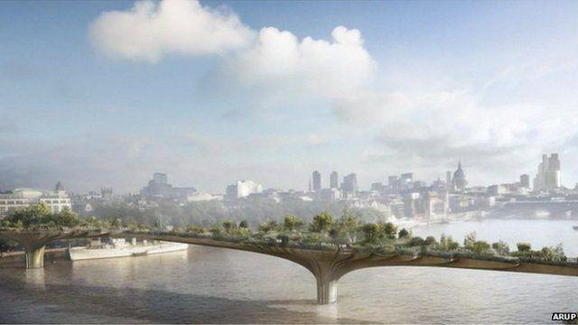 The garden bridge design
