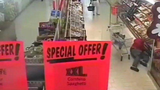 CCTV footage of Waheed Iqbal slipping