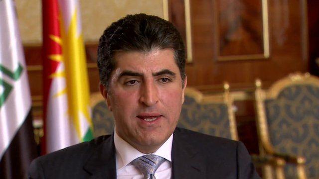 The prime minister of the semi-autonomous Kurdish Regional Government in northern Iraq, Nechirvan Barzani
