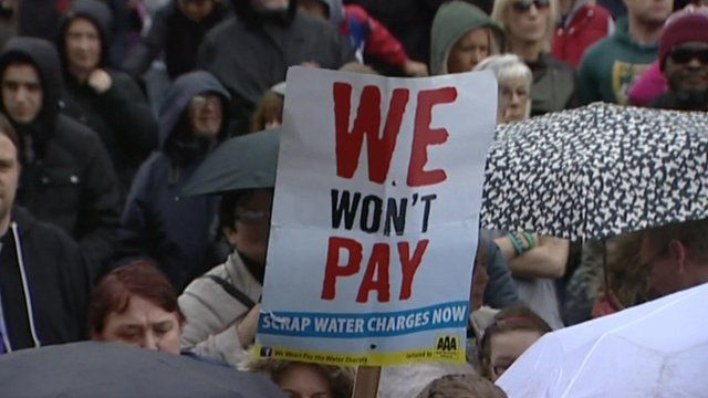 Water charge protests in Ireland