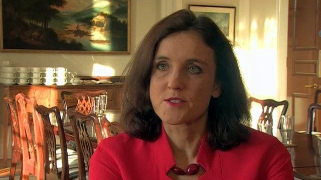 """Theresa Villiers said there can be """"no big cheque"""" to solve Northern Ireland's problems"""