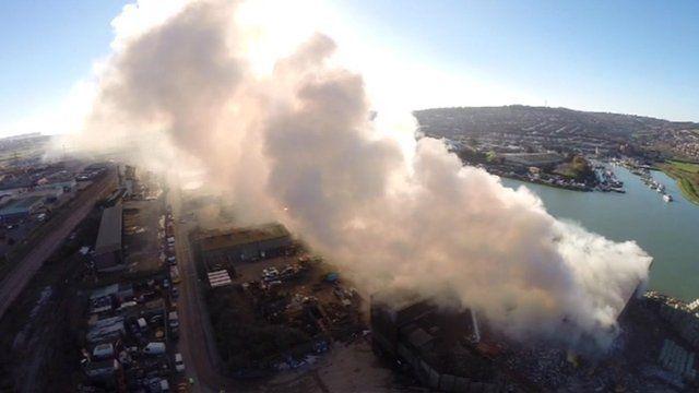 Newhaven rubbish fire