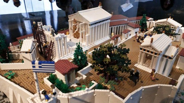 A Lego model of the Acropolis hill