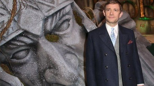 Star Martin Freeman at the premiere of The Hobbit, The Battle of the Five Armies