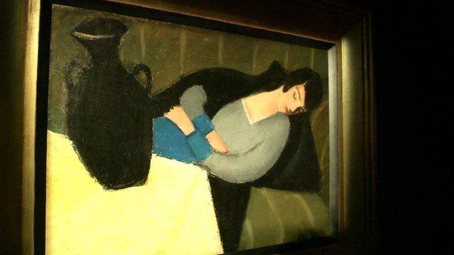Sleeping Lady with Black Vase