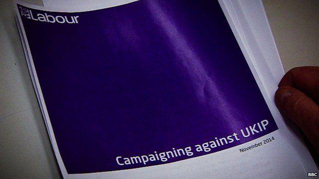 Leaked Labour document on campaigning against UKIP