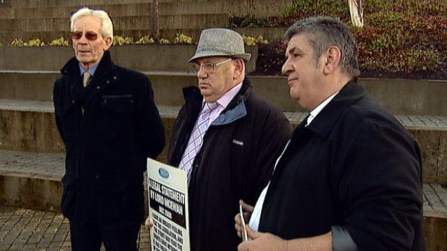 Men calling for an inquiry into historical child abuse