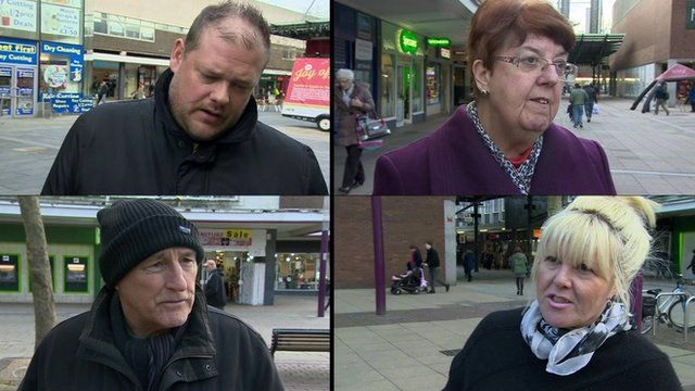 People on the street in Basildon