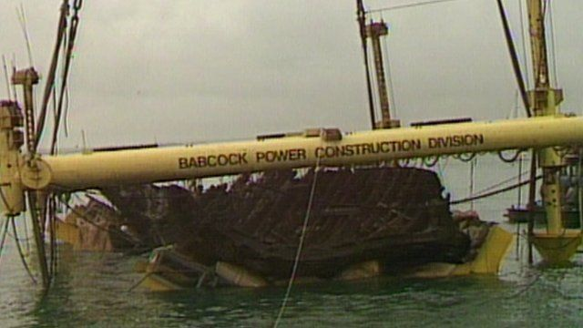 Mary Rose being raised