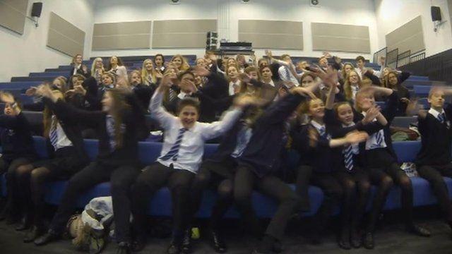 Pupils singing song