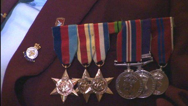 Normandy veteran's medals