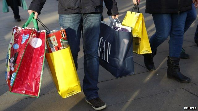 Shoppers carrying bags