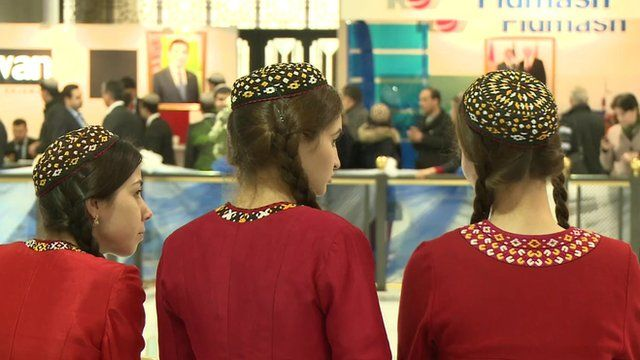 Women at a conference in Turkmenistan