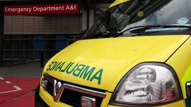File photo dated 04/04/11 of an ambulance outside the entrance to a hospital Accident and Emergency department