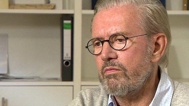 German author Juergen Todenhoefer in a BBC interview