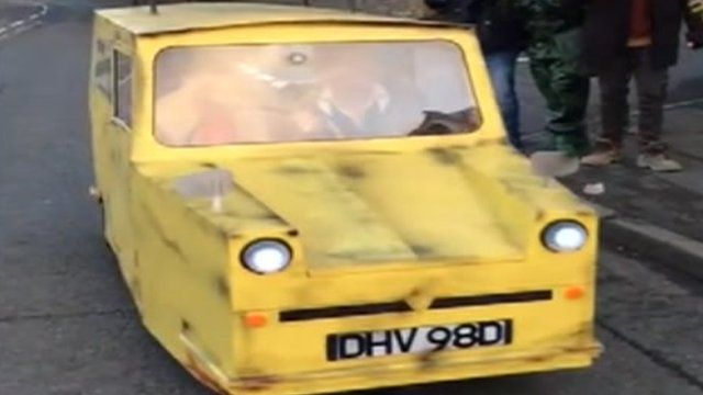 Only Fools and Horses van made of plywood