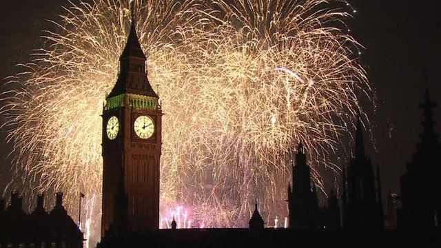 new year celebrations uk welcomes 2015 bbc news