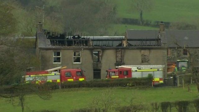The farmhouse at Ballynafern Road, Glasker, was gutted in Saturday's fire