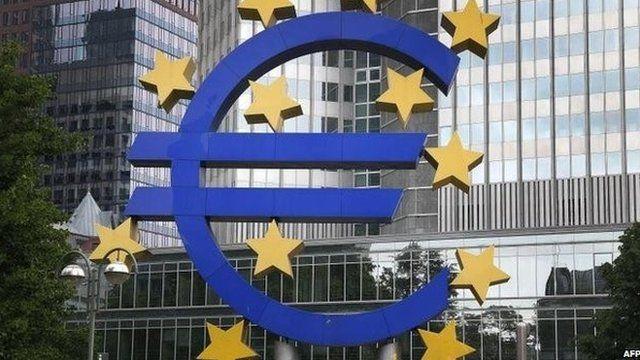 The eurozone headquarters in Frankfurt