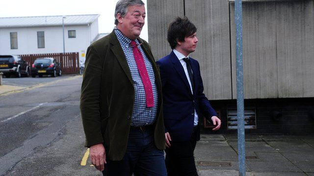 Stephen Fry and Elliott Spencer at Cwmbran Magistrates' Court