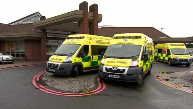 Ambulances at Walsall Manor Hospital