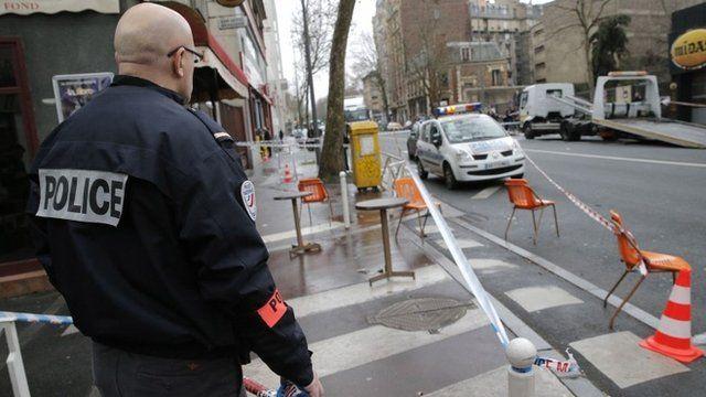 Scene of Paris shooting