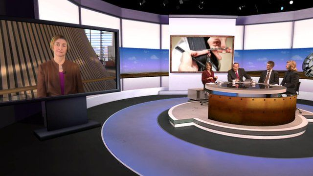 Nia Griffith with Daily Politics panel and Nicky Clarke