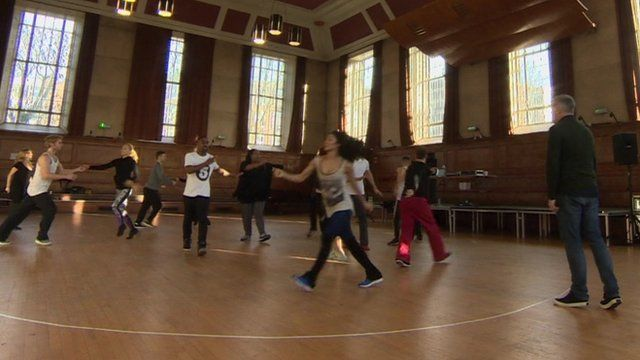 Dancers at rehearsals