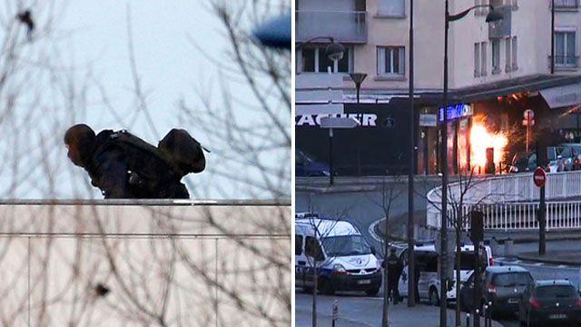 Raids on French siege sites