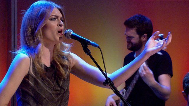 Laura Doggett performs on The Andrew Marr Show