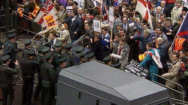 Haughey protest in Belfast