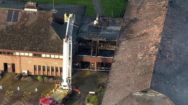Firefighters at scene of Oxfordshire council building fire