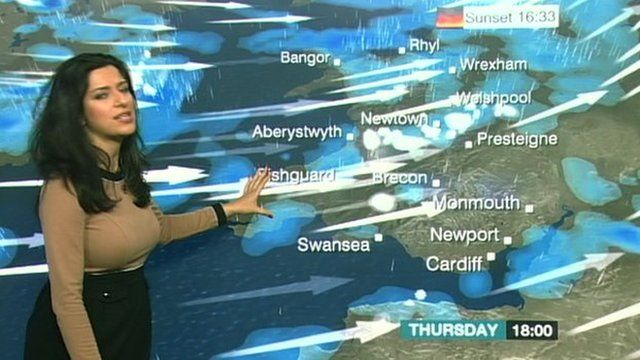 BBC weather presenter Behnaz Akhgar