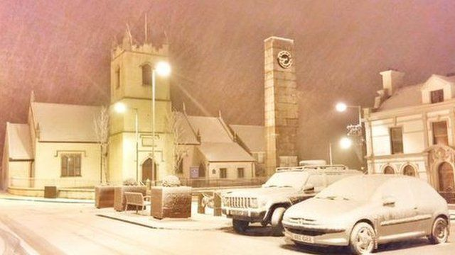 Snow in Rathfriland, County Down