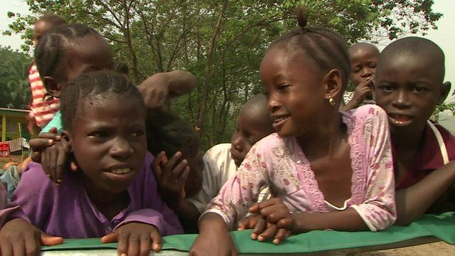 Orphans in Freetown, Sierra Leone