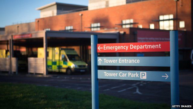 Ambulances outside the Accident and Emergency department of Gloucestershire Royal Hospital (file picture)