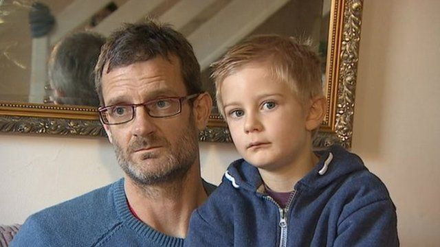 Derek and Alex Nash, the family who received a party no-show invoice