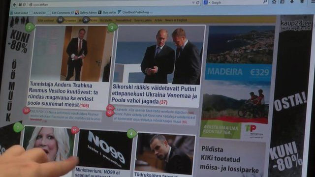 Estonian website DELFI