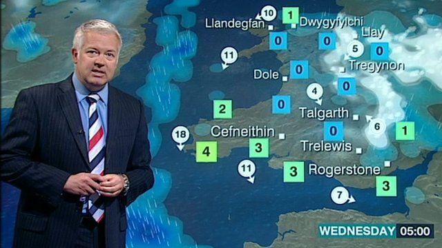 Derek Brockway reading the weather